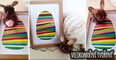 Velikonoční+tvoření+–+lepené+vajíčko+a+králíček Honey Bunny, Pom Poms, Jar, Kids Rugs, Easter, Gift Ideas, Education, Gifts, Decor