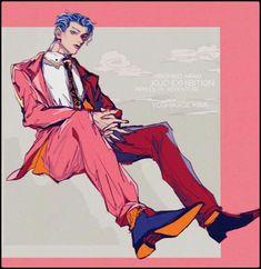 Yoshikage Kira, Cute Emo, Realistic Paintings, Cat Dad, Jojo Bizzare Adventure, Poses, Jojo Bizarre, Easy Drawings, My Images