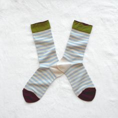Chaussettes Bonne Maison / Bonne Maison socks - Rayures Ciel