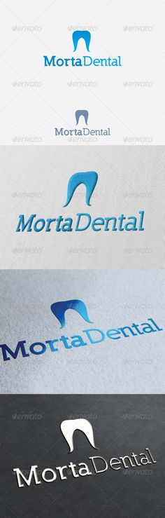 Morta Dental Logo Template Re sizable Vector EPS and Ai Color customizable Fully editable Free font used: .font Created: GraphicsFilesIncluded: PhotoshopPSD Layered: Yes MinimumAdobeCSVersion: CS Resolution: Resizable Tags: PSDlogo Medical Jokes, Medical Logo, Student Christmas Gifts, Student Gifts, Dental Clinic Logo, Brand Identity, Branding, Medical Office Design, Medical Background