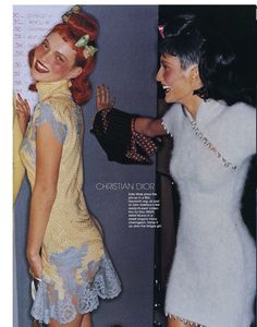 1997-98 - John Galliano for Christian Dior show - Kate Moss & Astrid Munoz backstage