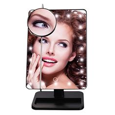 LED Cosmetic Mirror LuckyFine Rectangular LED Lighted Vanity Mirror With 20 Bright LED Light Black -- You can get additional details at the affiliate link Amazon.com.