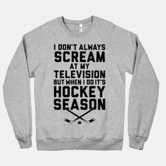 Or football season...or baseball...or soccer...ok it's just sports in general lol