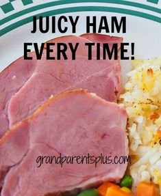 A Juicy Ham Every Time! Never ever again cook a ham without doing this. Talk about moist! All the juices are retained and the flavor and texture is fabulous. Pork Recipes, Cooking Recipes, Baked Ham Recipes, Best Baked Ham Recipe, Easy Ham Recipes, Ham In The Oven, Whole Ham, Ham Dishes, How To Cook Ham
