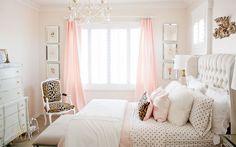 Pink and gold tween girl bedroom makeover