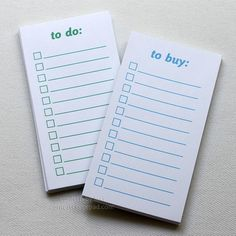 to do & to buy - mini checklist notes
