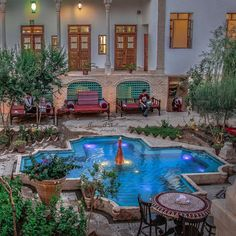 Persian culture, traditional house in Iran. Persian Architecture, Architecture Panel, Architecture Design, Timeline Architecture, Iran Tourism, Art Nouveau, Beautiful Homes, Beautiful Places, Iran Pictures