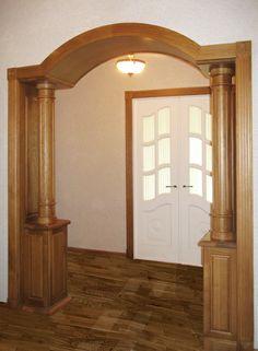 Портал с колоннами - солидность в интерьере! #арки #порталы #оформлениеинтерьера