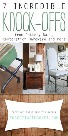 7 Incredible Knock-Offs from Pottery Barn, Restoration Hardware and more - The Cottage Market