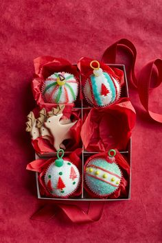These festive cupcakes will brighten up any holiday party. Get the recipe at Land O Lakes.  - WomansDay.com