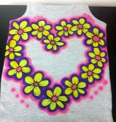 Kids Airbrush TANK or T-SHIRT by NYPartyArtz on Etsy