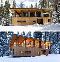 cabin with big windows