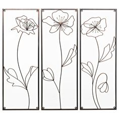 Wilko Wall Art Poppy Metal Bronze Effect Large 70cmx77cm | Metal Wall Art | | Pictures from Wilkinson Plus