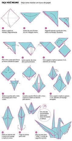 Origami seduces brides and brings shape and color to marriage - - Daily life - Folha de S Origami Design, Origami Paper Swan, Origami Simple, Instruções Origami, Origami Butterfly, Paper Crafts Origami, Origami Flowers, Oragami, Simple Origami Tutorial
