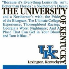University Of Kentucky :: Go Big Blue! Uk Basketball, Kentucky Basketball, University Of Kentucky, Kentucky Wildcats, Kentucky Sports, I Go Crazy, Go Big Blue, My Old Kentucky Home, Quote Of The Week