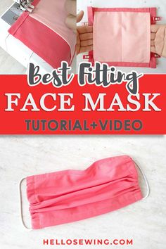Best fitting face mask - how to create your own custom fit mask Easy Face Masks, Homemade Face Masks, Diy Face Mask, Sewing Hacks, Sewing Tutorials, Sewing Projects, Diy Projects, Sewing Diy, Hair Tutorials