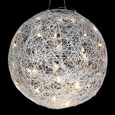 Lumineo 480806 LED Leuchtkugel mit 36 LED`s Draht Kugel