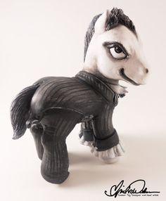 Arkham City Joker custom My Little Pony by Aprilvcwalker on Etsy, $99.00
