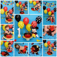 cake smash session mickey mouse themed