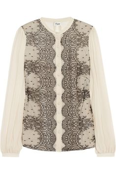 Temperley London Mia lace and silk-chiffon blouse NET-A-PORTER.COM