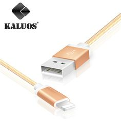 KALUOS 20cm 1m 2m 3m Nylon Braided Charging Wire 8-Pin USB Data Sync Charge Cable For iPhone 5 5S 6 6S 7 Plus Fast Charger Cable