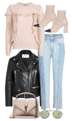 """""""Untitled #11282"""" by minimalmanhattan ❤ liked on Polyvore featuring Acne Studios, Topshop, Yves Saint Laurent and Garrett Leight"""