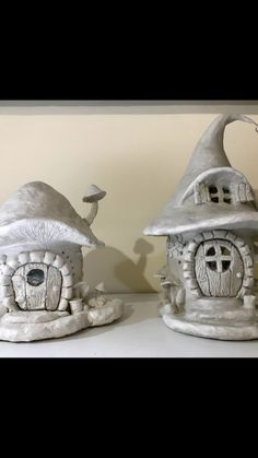 Paper clay and soda bottle fairy house