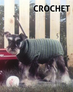 Keep your furbaby warm with a crochet sweater