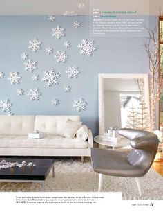 Love this for a winter decorating idea