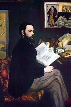 Emile Zola, by Edouard Manet, 12x18-inch Poster, Heavy Stock Semi-Gloss Paper Print, Black Frame by ArtParisienne