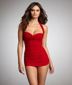 Love this swim dress. Appropriate for family gatherings but still flattering