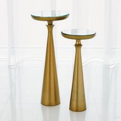 Minaret Accent Table-Satin Brass-Sm from Studio A (7.90767), $322.50