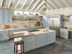 Kitchen Cabinets' Prices Depending on Many Features – Get The Best Chalk Paint Kitchen Cabinets, Green Kitchen Cabinets, Kitchen Cabinet Colors, Kitchen Colors, Grey Cabinets, Neutral Cabinets, Farmhouse Cabinets, Cabinet Decor, Kitchen Paint