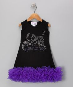 Take a look at this Black & Purple Bling 'Gymnastics' Dress - Infant, Toddler & Girls by The Princess and the Prince on #zulily today!
