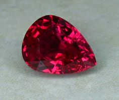 1.54ct Pear Shaped Ruby from Mozambique.