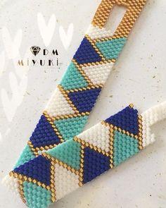 51 Best Ideas For Jewerly Desing Trends Bijoux Peyote Stitch Patterns, Beaded Bracelet Patterns, Bead Loom Patterns, Beading Patterns, Beaded Bracelets, Jewelry Crafts, Handmade Jewelry, Peyote Beading, Bead Jewellery