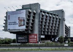 This building is the Forum Hotel designed by architect Janusz Ingarden, and was constructed in Krakow, Poland between 1978 and 1988 and opened in 1989