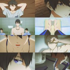 Free! ES ~~ So far, we've had episodes focused on Rei, Nagisa, and Makoto. Each had super scary previews and then weren't really all that scary. Next up is Haruka. After that will be Rin, most likely.