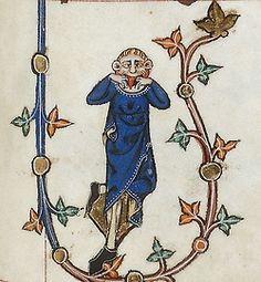 April Fools Day :P Gorleston Psalter, England 14th century. British Library, Additional 49622, fol. 123r