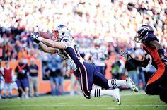 Wes Welker... full extension catch near the goal line. - Sun, Dec 18, 2011