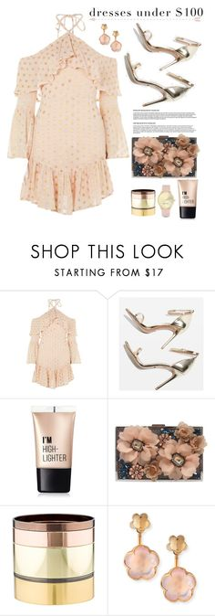 """""""Dresses Under $100"""" by hamaly ❤ liked on Polyvore featuring Topshop, Charlotte Russe, Sondra Roberts, Gemma Redux, Pasquale Bruni, Nine West, outfit, ootd, dresses and under100"""
