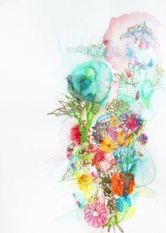 "Saatchi Online Artist: Lia Porto; Watercolor, 2012, Painting ""Néctar"""