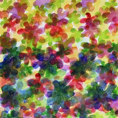 Floral Carpet by Heidi Capitaine #Art#Artist#Painting#Contemporary#Watercolour#Abstract#FineArt#WallArt