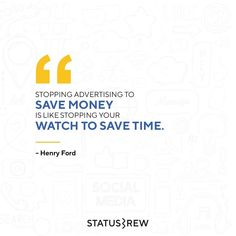 Advertising and marketing a product is critical to its success. If you quit advertising your product, you may spend less, but you'll certainly receive less as well 💯 Saving Money, Advertising, Success, Social Media, Concept, Marketing, Save My Money, Social Networks, Money Savers