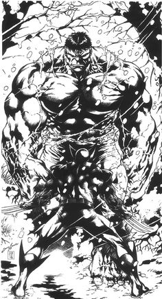 #Hulk #Fan #Art. (Hulk vs Wolverine) By:Jose Lewis & Mich974. ÅWESOMENESS!!!™ ÅÅÅ+