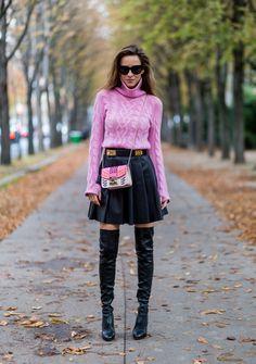 Alexandra Lapp Street Style at Paris Fashion Week Day Five