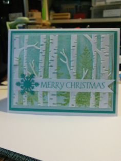 Woodlands embossing folder meets Lovely as a Tree