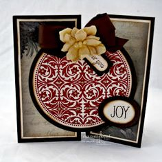 Designs by Lisa Somerville: RCC87 Holidays and Celebrations - Vintage Christmas Reverse Diamond Fold