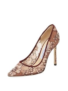 Romy 100mm Lace Pointed-Toe Pump from Gift Shop: Splurge-Worthy Picks on Gilt