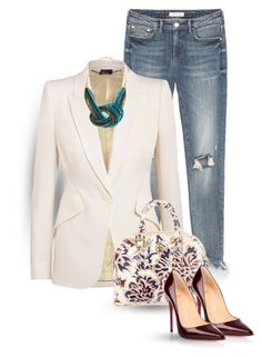 """""""street  style"""" by janemichaud-ipod ❤ liked on Polyvore featuring Alexander McQueen, Erica Lyons, Tory Burch and Christian Louboutin"""
